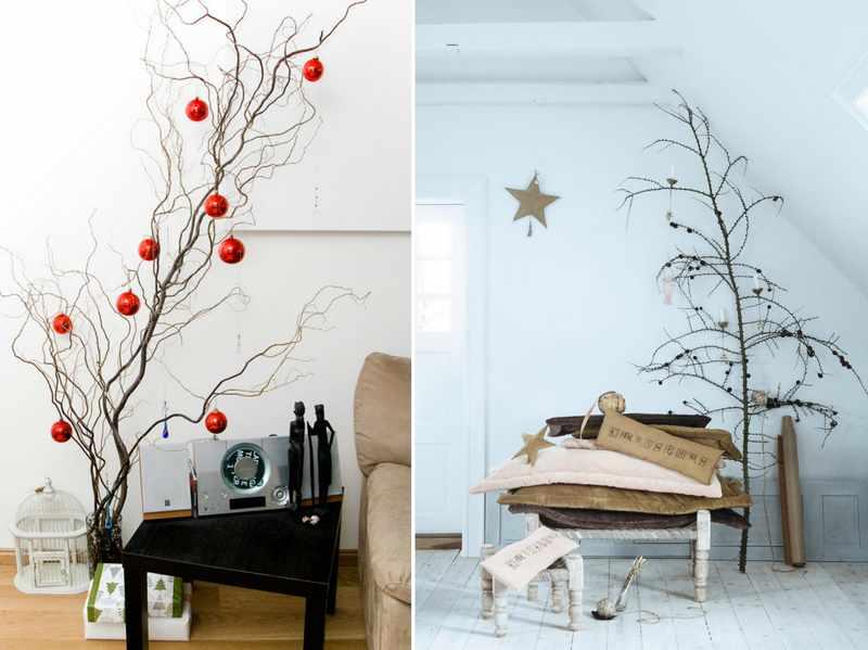 decorar un arbol de navidad para casa minimalista