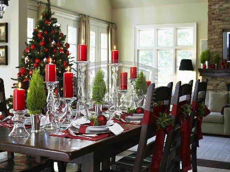 decoracion para mesa de comedor en navidad