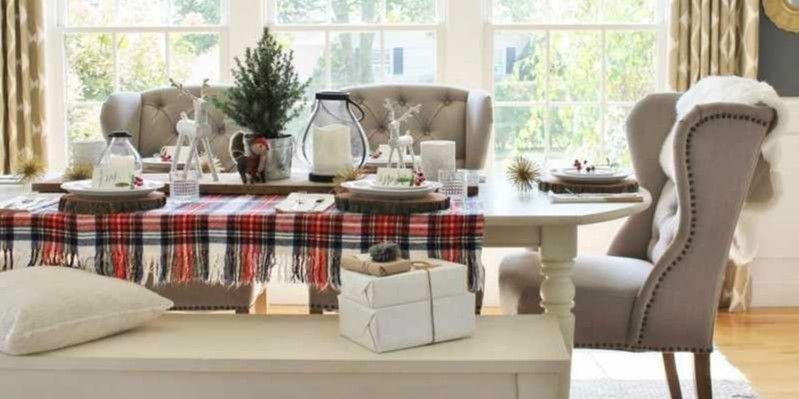 decorar mesa navidad facil