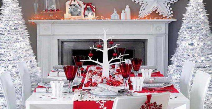 mesas de Navidad elegantes