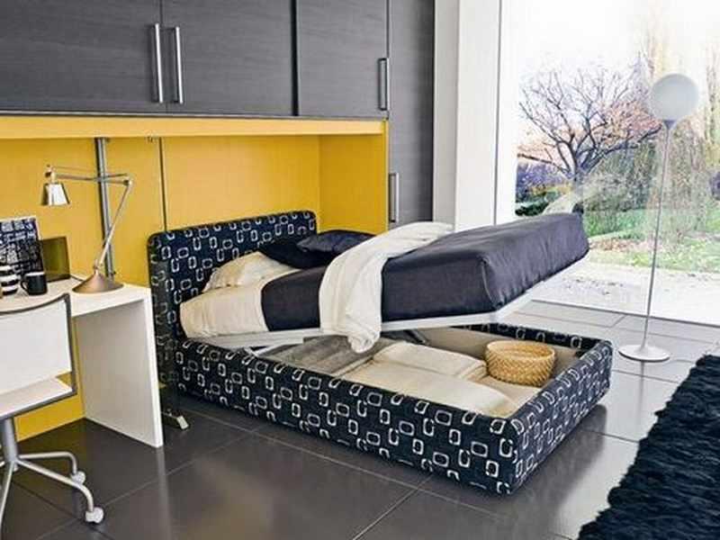 como decorar una habitacion pequeña con una cama grande