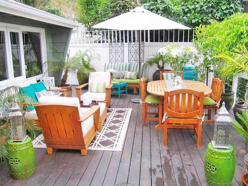 como decorar un patio pequeño con plantas